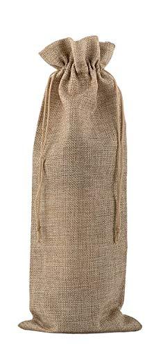 "Jute Wine Bags 10 Pack Burlap Wine Bottle Gift Bag With Drawsting 14""x 6"""