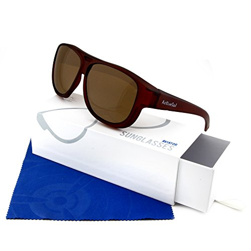 de gramos Marrón aviador de SOBREGAFAS de protección Active polarizadas DE Sol con diseño Sobregafas 24 sol UV400 Gafas SOL xqqwvTAS