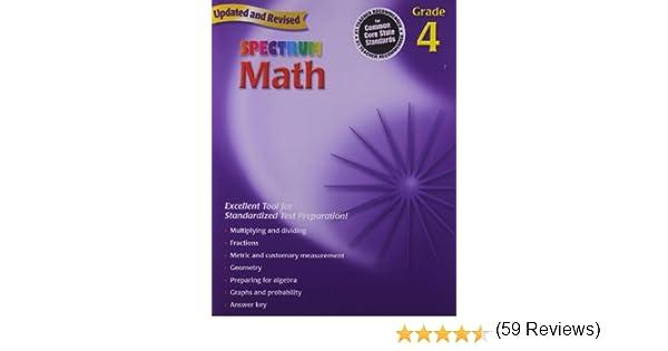 Spectrum Math, Grade 4: Thomas Richards: 9780769636948: Amazon.com ...