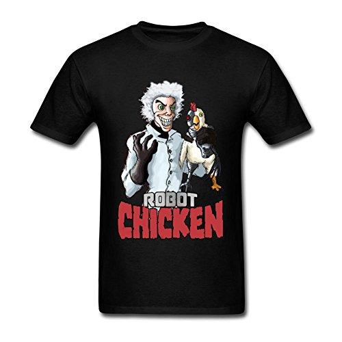 JuDian Robot Chicken Cartoon Art T Shirt For Men