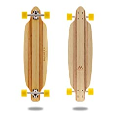 """The Laguna Collection is inspired by the white sand beaches of Laguna Beach in Southern California. All of the decks are made with a beautifully laminated light bamboo with dark racing stripes. Each deck is 36"""" long and best serves different ..."""