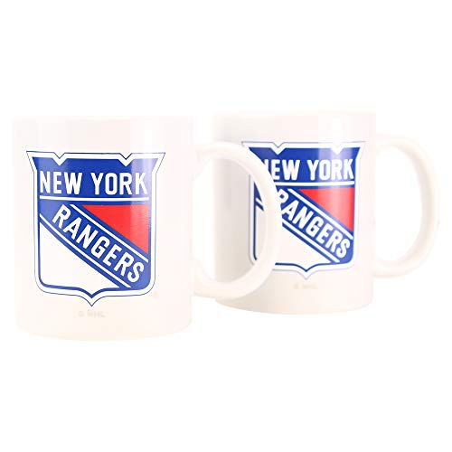 Boelter NHL 12oz Team Logo Coffee Mug 2-Pack (New York Rangers)