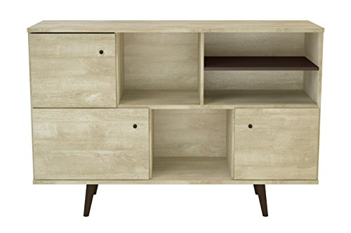 Stationary Media Cabinet - Midtown Concept 3-Cabinet Buffet, Sand