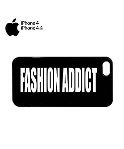 Fashion Addict Blogger Mobile Cell Phone Case Cover iPhone 4&4s Black