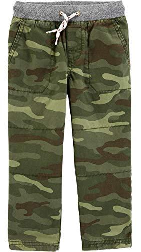 Carter's Boys' Midtier Drawstring Cargo Easy Pull-On Canvas Pants (Camo/Regular, 2T)