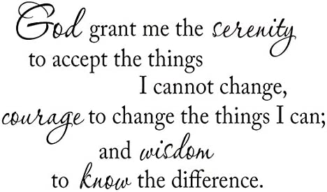 photo relating to Serenity Prayer Printable referred to as The Serenity Prayer, God Grant Me the Serenity in the direction of Take the Aspects I Are unable to Big difference Wall Decal VWAQ-1721