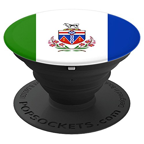 Yukon Canada Flag Gift Canadian Province Zx - PopSockets Grip and Stand for Phones and Tablets