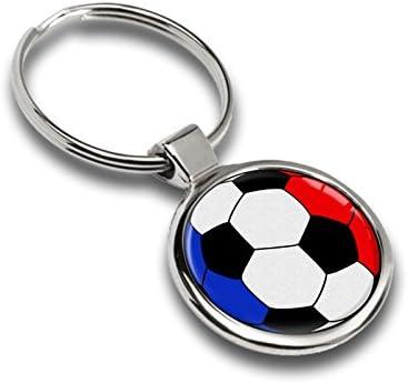 Llavero de fútbol balón Bandera Francia France metal Keyring Llave ...