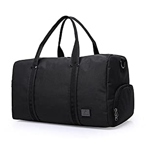 Duffle bag,75L Large Capacity Canvas Duffel bag For Women & Men.Luggage Bag Fit for Gym Sport Travel Weekend (Black)