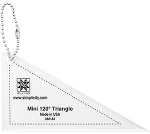 Mini 120 Degree Triángulo con Ilavero plantilla de acrílico