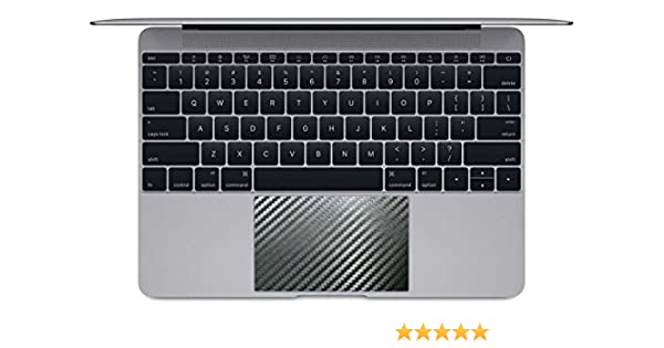 matte black BingoBuy 5 pieces Trackpad Touchpad Area Decorative Cover Skin Protector Sticker for 12 Apple Macbook with Retina Display A1534