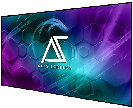 Akia Screens 125 inch Edge Free Mounted Body Projector Display 125″ Diagonal 16:9 8K 4K Extremely HD 3D Prepared CINEWHITE UHD-B Black Projection Display for Indoor Film Video Residence Theater AK-NB125H