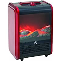 Howard Berger Comfort Zone Mini Ceramic Fireplace Heater (Red)