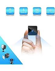 Bluetooth Mini Camara Espia Oculta, ZZCP HD 1080P camaras de seguridad wifi Inalambricas Portátil con Altavoz Bluetooth,Sensor Movimiento, Visión Nocturna, IP Camara de Vigilancia Interiores/Exteriores