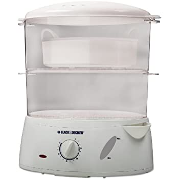 Black & Decker HS1050 7-Quart Food Steamer, White