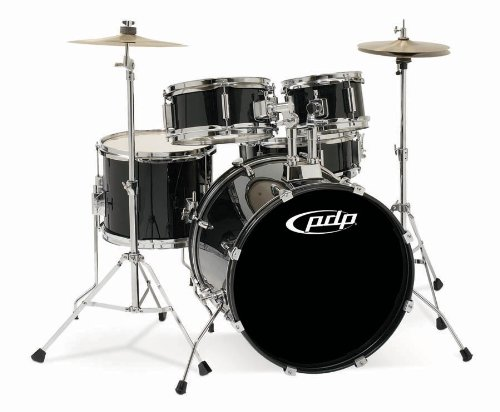 Pacific Drums PDJR18KTCB PDP Junior 5-Piece Drum Set - Black Pacific Tom Drum
