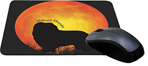 d Sheepdog Silhouette by Moon Design Lightning Series Gaming Mouse Pad (MPSQ-RK-41324) ()