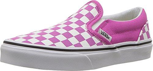 Vans Kids Classic Slip-On (Checkerboard) Raspberry Rose/True White VN0A32QIQ6T Kids Size 10.5