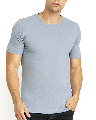 Next Level Apparel 6200 Mens Poly & Cotton Crew Tee - Stonewashed Denim44; Large