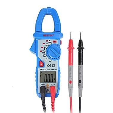 Digital Multimeter, Aidbucks MT200 Voltage Clamp Meter AC/DC 600A 5999 Counts - for Factory School Lab Home Hobby Machine Repairing