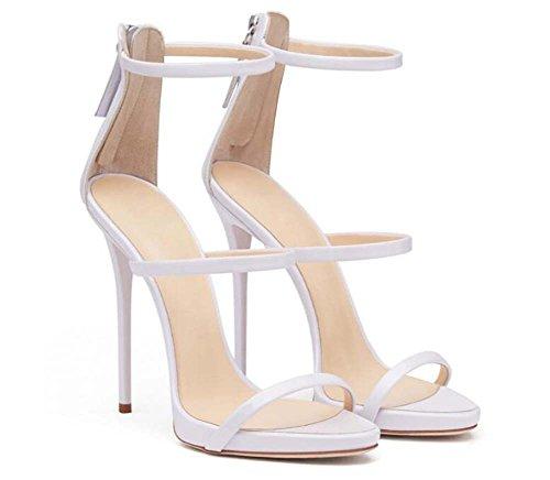 de9f51c2ee73 Scarpe da donna Open Toe Hollow D orsay Sandali con cinturino alla caviglia  Scarpe da sposa Semplice 12cm Scarpe a spillo Party Scarpe Roma Eu Taglia  34-45  ...