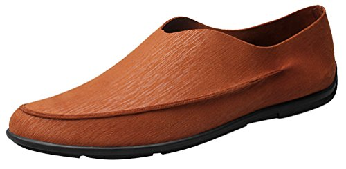 Abby 902 Dashing Menns Loafer Slip-on Loafers Stilig Uformell Kjøre Joggesko Brun