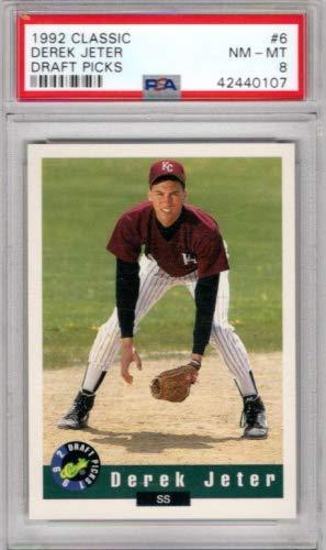 1992 Classic Draft Picks #6 Derek Jeter - Graded PSA NmMt 8 - New York Yankees