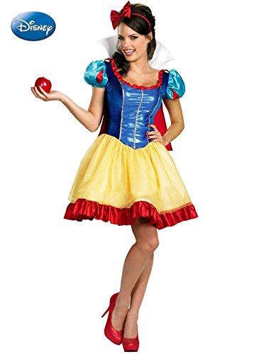 [Disguise Disney Deluxe Sassy Snow White Costume, Yellow/Red/Blue, Small/4-6] (White Fairy Costumes)