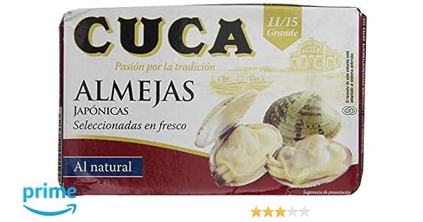 Cuca - Almejas Seleccionadas en Fresco al Natural - 11/15 unidades - 125 g