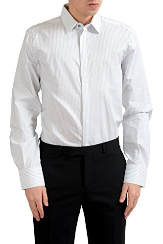 Dolce & Gabbana Martini Men's Striped Long Sleeve Dress Shirt US 17 IT 43;