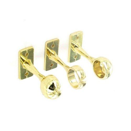 (Securit 1 Centre & 2 End Brackets Brass Plated - 19mm)