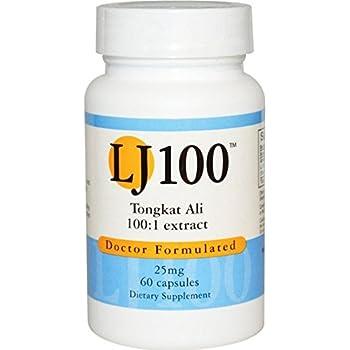 Amazon.com: Tongkat Ali LJ100 100 to 1 Extract 25 Mg , 60 Caps - Endorsed Dr. Ray Sahelian, M.D