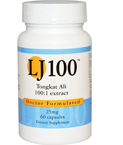 Tongkat Ali LJ100 100 to 1 Extract 25 Mg , 60 Caps - Endorsed Dr. Ray Sahelian, M.D., Author of Natural Sex Boosters by LJ100, Tongkat Ali