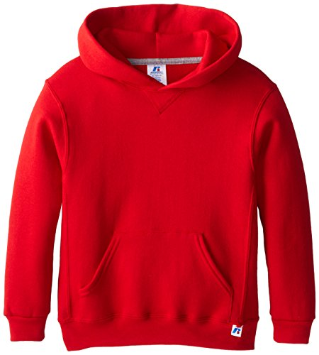 Russell Athletic Big Boys' Fleece Pullover Hood, True Red, -