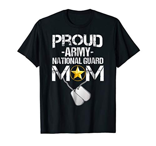 (Proud Army National Guard Mom Tshirt)