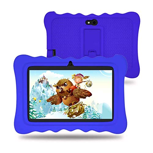 Kids Tablet 7 inch, Android Tablet with Parental Control, 2GB RAM+16GB ROM, WiFi, Bluetooth, IPS HD Display, Kid-Proof…