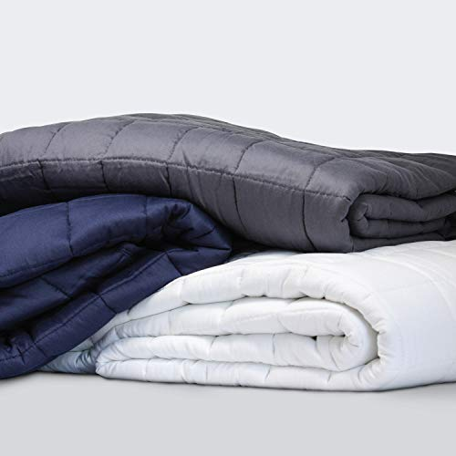 Everspread-Weighted-Blanket-15lbs-48-x-72-Dark-Gray-100-Premium-Cotton-with-Glass-Beads-Heavy-Blanket