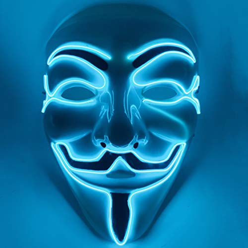 Adult Halloween Mask (Akiimy Halloween Masks for Adults Led Purge Mask Light Up Mask Halloween Mask Led Mask Scary Halloween Mask for Halloween)
