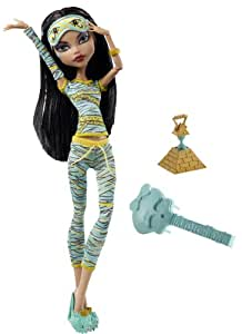 Monster High V7972 - Muñeca Muerta de Sueño en Pijama - Cleo de Nilo