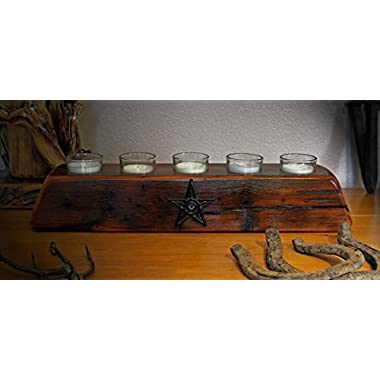 Rustic Cabin/Lodge Decor...The Old West 5 Votive Candle Holder