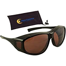 6f211271acd Sun Shield Fit Over Sunglasses with Blue Blocker HD Driving Lens - Wear  Over Prescription Glasses