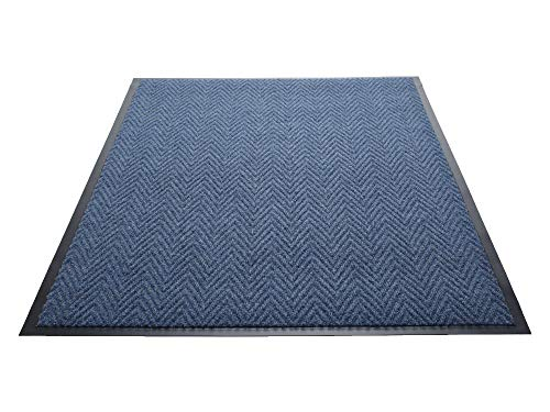Guardian Golden Series Chevron Indoor Wiper Floor Mat, Vinyl/Polypropylene, 2'x3', Blue