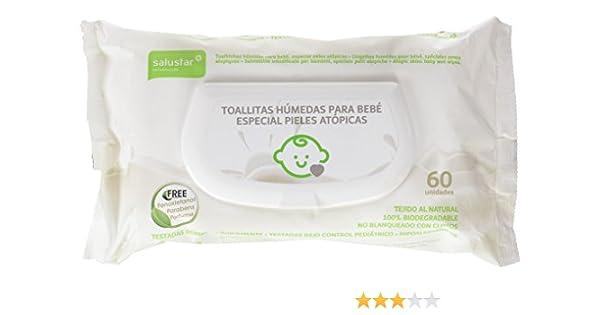 Salustar - Toallitas húmedas para bebés - Especial pieles atópicas ...