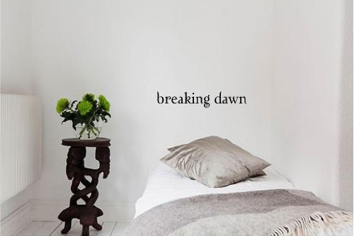 Breaking dawn Vinyl wall art Inspirational quotes and saying home decor decal sticker
