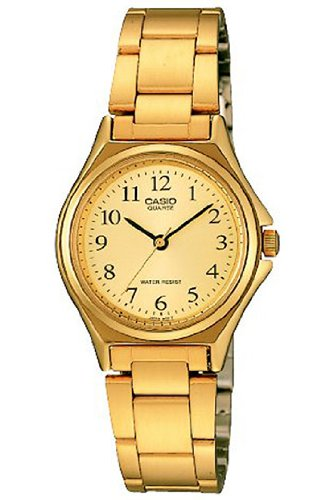Casio LTP-1130N-9B - Reloj analógico de Cuarzo para Mujer, Correa de Acero Inoxidable Color Dorado: Casio: Amazon.es: Relojes