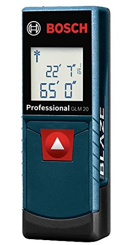 Bosch BLAZE, 65 Feet 20 X Range, One-Touch Portable Laser Distance Measuring Device (New Open Box)