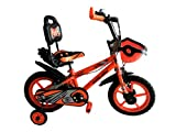Rising India 14' Sports Kids Bicycle for 3-5 Years with Full Chain Cover and Bottle (Neon Orange) -Semi Assembled