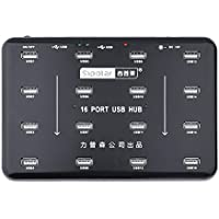 Sipolar 16 Port USB 2.0 Hub Support 16 U-Disk for Bulk Duplicate