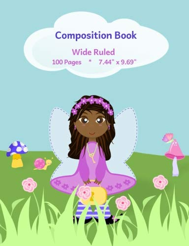 "Search : Composition Book: Cute Fairy Design, Wide Ruled School Notebook, 100 pages, 7.44""x9.69"""