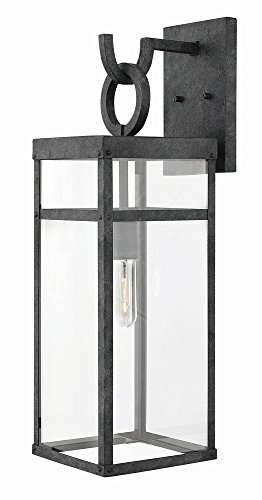 Hinkley 2805DZ Transitional One Light Outdoor Wall Mount from Porter collection in Bronze/Darkfinish,